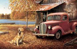 A Golden Autumn Vehicles Jigsaw Puzzle