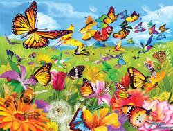 Butter Flutter Flowers Jigsaw Puzzle