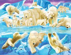 Polar Bear Plunge Snow Jigsaw Puzzle