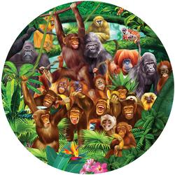 Monkey Lane Jungle Animals Jigsaw Puzzle