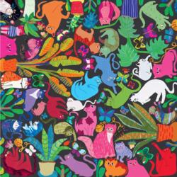 Cats at Work Plants Jigsaw Puzzle