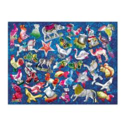 Shiny Ornaments Christmas Jigsaw Puzzle