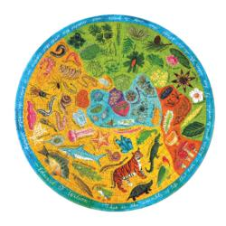 Biodiversity Science Round Jigsaw Puzzle