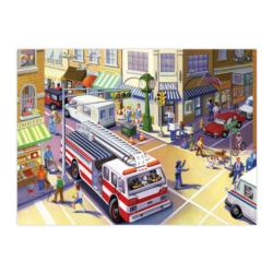 Fire Truck Vehicles Children's Puzzles