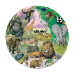 Wildlife of Africa Animals Round Jigsaw Puzzle