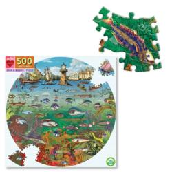 Fish & Boats Seascape / Coastal Living Jigsaw Puzzle