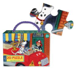 Fire Truck Dog Vehicles Children's Puzzles