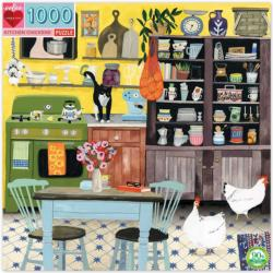 Kitchen Chicken Domestic Scene Jigsaw Puzzle