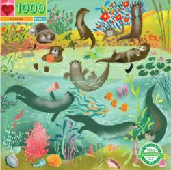 Otters Lakes / Rivers / Streams Jigsaw Puzzle