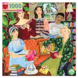 Jane Austen's Book Club Domestic Scene Jigsaw Puzzle