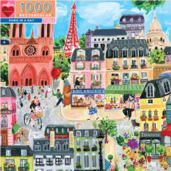 Paris in a Day Eiffel Tower Jigsaw Puzzle