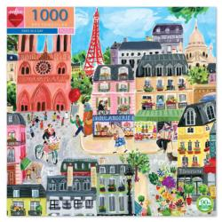 Paris in a Day Eiffel Tower Jigsaw Puzzle
