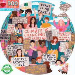 Climate Action People Round Jigsaw Puzzle