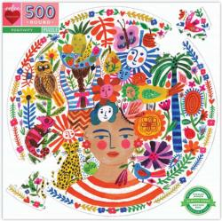 Positvity - Scratch and Dent People Round Jigsaw Puzzle