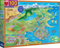Geographical Terms Maps / Geography Children's Puzzles