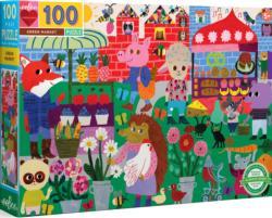 Green Market Shopping Children's Puzzles