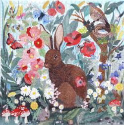 Poppy Bunny Flowers Jigsaw Puzzle