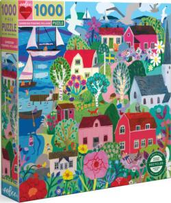 Swedish Fishing Village Europe Jigsaw Puzzle