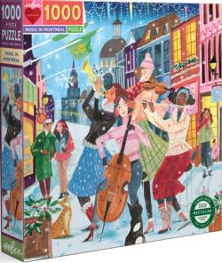 Music in Montreal Canada Jigsaw Puzzle