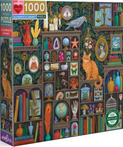 Alchemist's Cabinet Bookshelves Jigsaw Puzzle