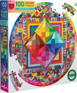 Beauty of Color Graphics / Illustration Round Jigsaw Puzzle