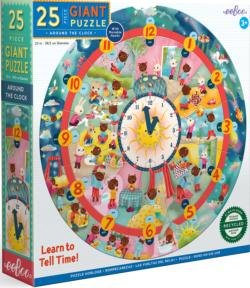 Around the Clock Puzzle Educational Round Jigsaw Puzzle