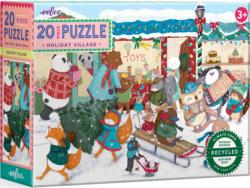 Holiday Village Christmas Children's Puzzles