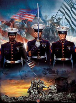 The Few and the Proud Patriotic Jigsaw Puzzle