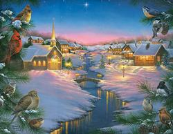 A Winter's Silent Night Christmas Large Piece
