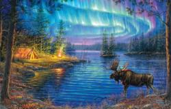 Northern Night Wildlife Jigsaw Puzzle