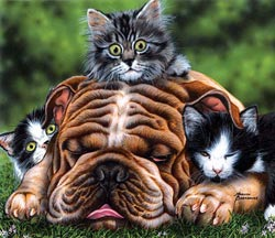 The Baby Sitter Dogs Jigsaw Puzzle