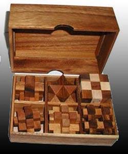 6 Puzzle Gift Set (Premium) Brain Teaser