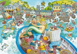 Wasgij? - Original #16 Catch of the Day Mermaids Jigsaw Puzzle