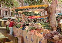 At the Market Outdoors Jigsaw Puzzle
