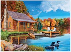 Autumn Cabin Jigsaw Puzzle