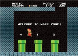 Super Mario 1-2 Welcome to Warp Level Video Game Jigsaw Puzzle