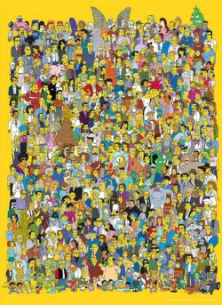 "Simpsons ""Cast of Thousands"" Movies / Books / TV Jigsaw Puzzle"