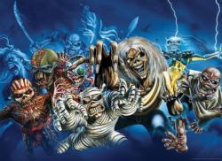 Iron Maiden Faces of Eddie Cartoon Jigsaw Puzzle