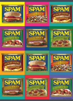 """SPAM™ """"Sizzle. Pork. and Mmm."""" Pattern / Assortment Jigsaw Puzzle"""