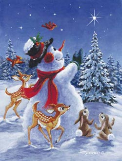 Star of Wonder Snowman Jigsaw Puzzle