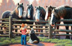 Sizing Up Horses Jigsaw Puzzle