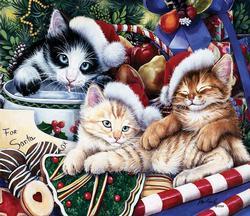 Meowy Christmas Christmas Jigsaw Puzzle