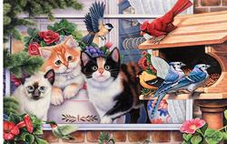 Springtime Wonders Cats Jigsaw Puzzle
