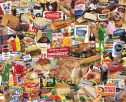 Boomers' Favorite Foods Collage Jigsaw Puzzle