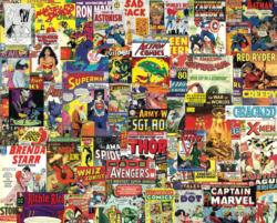 Boomers' Favorite Comics Super-heroes Jigsaw Puzzle