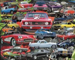 Boomers' Favorite Cars Nostalgic / Retro Jigsaw Puzzle