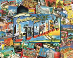 Greetings from Florida  Seascape / Coastal Living Jigsaw Puzzle