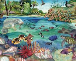 Florida Above and Below   Fish Jigsaw Puzzle