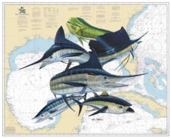 Gulf Slam Offshore Fish Jigsaw Puzzle