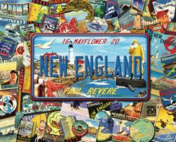 New England Collage Jigsaw Puzzle
